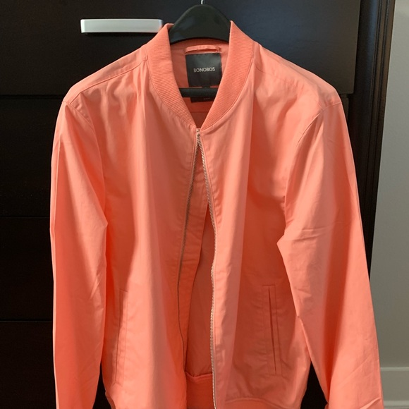 de03a4dc Bonobos Jackets & Coats | Mens Peach Slim Fit Bomber Jacket Large ...